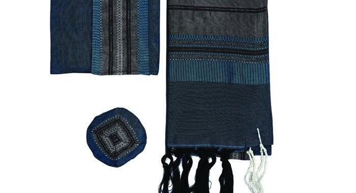 Deep Teal Silk Tallit Set By Gabrieli