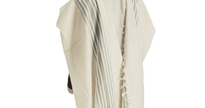 Hermonit Wool Tallit Light Grey