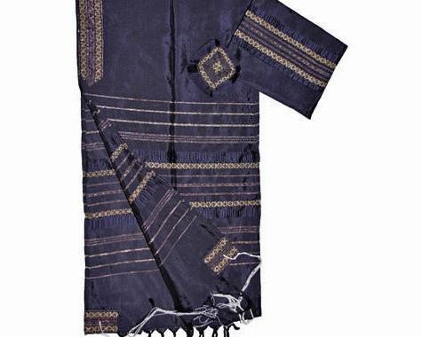 Silk Tallit - Blue