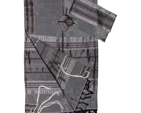 Tallit Set - Gray Silk