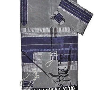 Tallit Set - Grey & Royal Blue