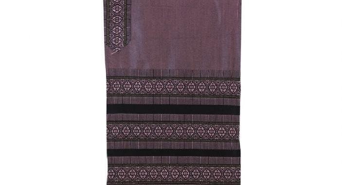 Tallit Set - Hand Woven Wool Antique Pink