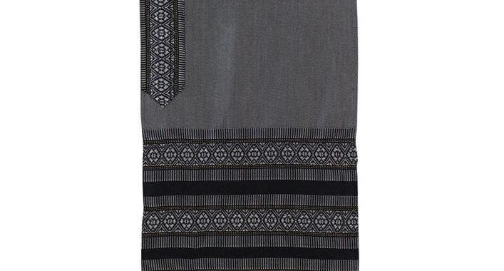Tallit Set - Hand Woven Wool & Fringes Gray
