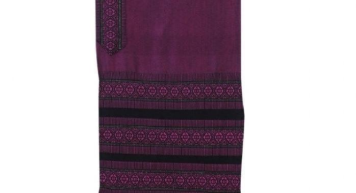 Tallit Set - Hand Woven Wool & Fringes Purple