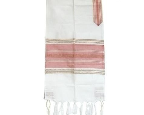 Tallit Set - Pink With A Touch Of Gold