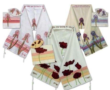 Wild Silk Talit Designs 3 Pc Feminine Tallit Set