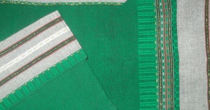 Wool Tallit - Emerald Green