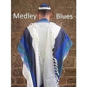 Wool Tallit - Medley Blues